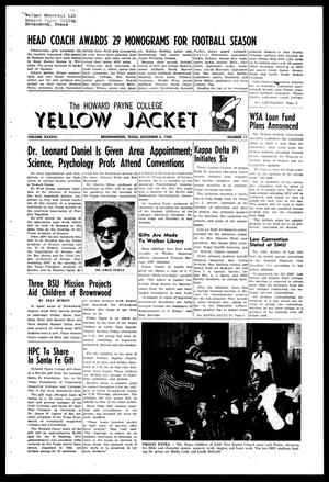 Primary view of object titled 'The Howard Payne College Yellow Jacket (Brownwood, Tex.), Vol. XXXXVI, No. 11, Ed. 1, Friday, December 5, 1958'.