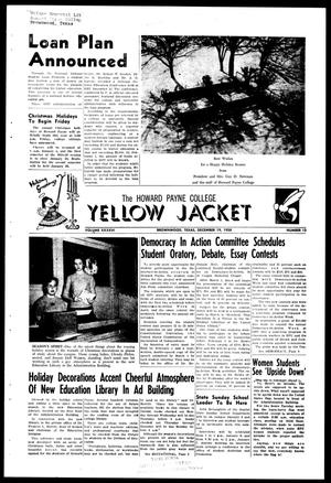 Primary view of object titled 'The Howard Payne College Yellow Jacket (Brownwood, Tex.), Vol. XXXXVI, No. 13, Ed. 1, Friday, December 19, 1958'.