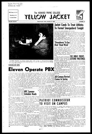 The Howard Payne College Yellow Jacket (Brownwood, Tex.), Vol. XXXXVI, No. 14, Ed. 1, Friday, January 9, 1959