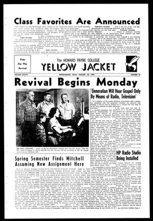 Primary view of object titled 'The Howard Payne College Yellow Jacket (Brownwood, Tex.), Vol. XXXXVI, No. 16, Ed. 1, Friday, January 30, 1959'.