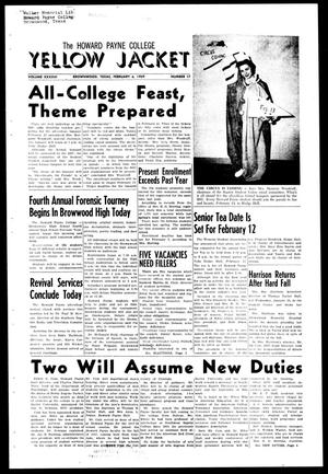 The Howard Payne College Yellow Jacket (Brownwood, Tex.), Vol. XXXXVI, No. 17, Ed. 1, Friday, February 6, 1959
