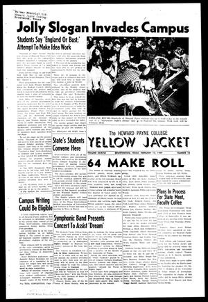 Primary view of object titled 'The Howard Payne College Yellow Jacket (Brownwood, Tex.), Vol. XXXXVI, No. 18, Ed. 1, Friday, February 13, 1959'.