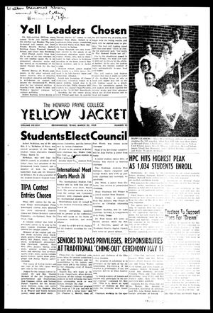 The Howard Payne College Yellow Jacket (Brownwood, Tex.), Vol. XXXXVI, No. 23, Ed. 1, Friday, March 20, 1959