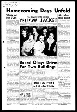 Primary view of object titled 'The Howard Payne College Yellow Jacket (Brownwood, Tex.), Vol. XXXXVII, No. 8, Ed. 1, Friday, November 6, 1959'.