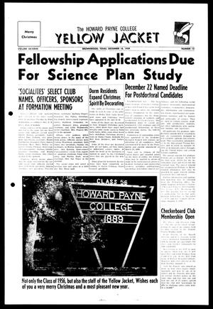 Primary view of object titled 'The Howard Payne College Yellow Jacket (Brownwood, Tex.), Vol. XXXXVII, No. 13, Ed. 1, Friday, December 18, 1959'.