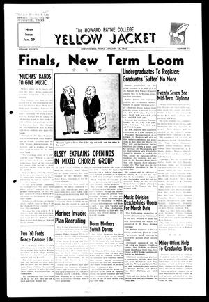 The Howard Payne College Yellow Jacket (Brownwood, Tex.), Vol. XXXXVII, No. 15, Ed. 1, Friday, January 15, 1960