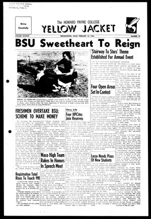 The Howard Payne College Yellow Jacket (Brownwood, Tex.), Vol. XXXXVII, No. 18, Ed. 1, Friday, February 12, 1960