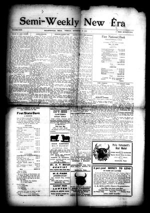 Primary view of object titled 'Semi-Weekly New Era (Hallettsville, Tex.), Vol. 29, No. 72, Ed. 1 Tuesday, November 25, 1919'.