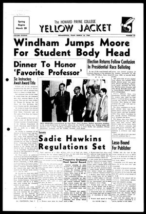 The Howard Payne College Yellow Jacket (Brownwood, Tex.), Vol. XXXXVII, No. 23, Ed. 1, Friday, March 18, 1960