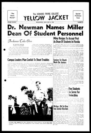 Primary view of object titled 'The Howard Payne College Yellow Jacket (Brownwood, Tex.), Vol. XXXXVII, No. 29, Ed. 1, Friday, May 6, 1960'.