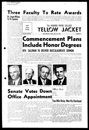 Primary view of object titled 'The Howard Payne College Yellow Jacket (Brownwood, Tex.), Vol. XXXXVII, No. 31, Ed. 1, Friday, May 20, 1960'.
