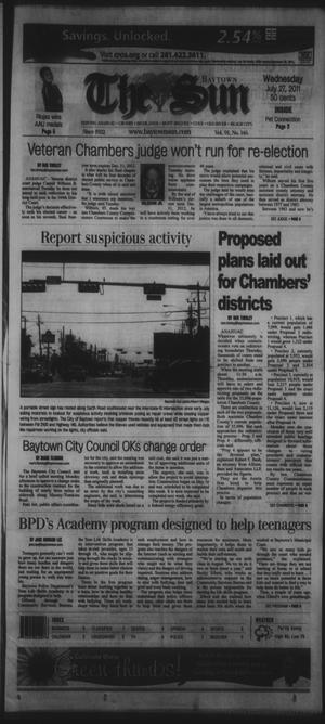 Primary view of object titled 'The Baytown Sun (Baytown, Tex.), Vol. 91, No. 146, Ed. 1 Wednesday, July 27, 2011'.
