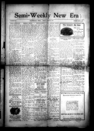 Primary view of object titled 'Semi-Weekly New Era (Hallettsville, Tex.), Vol. 29, No. 45, Ed. 1 Friday, August 22, 1919'.
