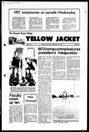 Primary view of object titled 'The Howard Payne College Yellow Jacket (Brownwood, Tex.), Vol. 61, No. 1, Ed. 1, Friday, September 14, 1973'.