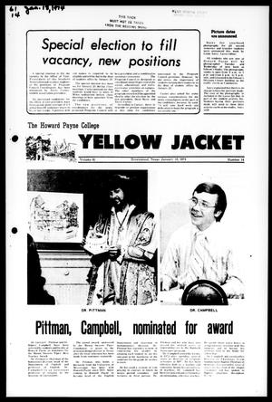 The Howard Payne College Yellow Jacket (Brownwood, Tex.), Vol. 61, No. 14, Ed. 1, Friday, January 18, 1974