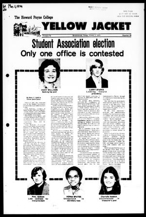 The Howard Payne College Yellow Jacket (Brownwood, Tex.), Vol. 61, No. 20, Ed. 1, Friday, March 1, 1974