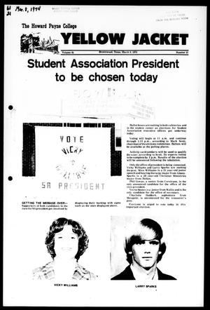 The Howard Payne College Yellow Jacket (Brownwood, Tex.), Vol. 61, No. 21, Ed. 1, Friday, March 8, 1974