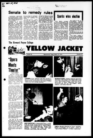The Howard Payne College Yellow Jacket (Brownwood, Tex.), Vol. 61, No. 22, Ed. 1, Friday, March 15, 1974