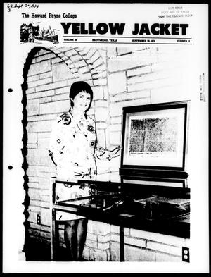 Primary view of object titled 'The Howard Payne College Yellow Jacket (Brownwood, Tex.), Vol. 62, No. 3, Ed. 1, Friday, September 20, 1974'.