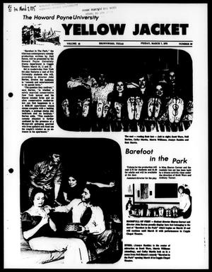 Primary view of object titled 'The Howard Payne University Yellow Jacket (Brownwood, Tex.), Vol. 62, No. 20, Ed. 1, Friday, March 7, 1975'.
