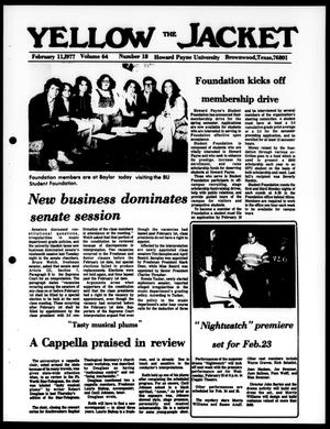 The Yellow Jacket (Brownwood, Tex.), Vol. 64, No. 18, Ed. 1, Friday, February 11, 1977