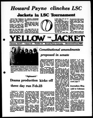 The Yellow Jacket (Brownwood, Tex.), Vol. 64, No. 19, Ed. 1, Friday, February 18, 1977