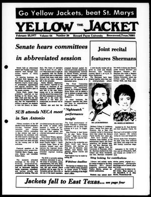 The Yellow Jacket (Brownwood, Tex.), Vol. 64, No. 20, Ed. 1, Friday, February 25, 1977