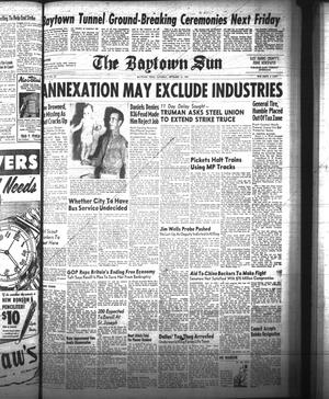 Primary view of object titled 'The Baytown Sun (Baytown, Tex.), Vol. 31, No. 82, Ed. 1 Saturday, September 10, 1949'.