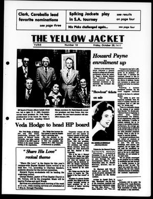 Primary view of object titled 'The Yellow Jacket (Brownwood, Tex.), Vol. 65, No. 10, Ed. 1, Friday, October 28, 1977'.