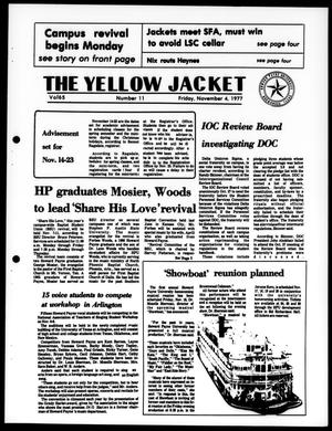 Primary view of object titled 'The Yellow Jacket (Brownwood, Tex.), Vol. 65, No. 11, Ed. 1, Friday, November 4, 1977'.