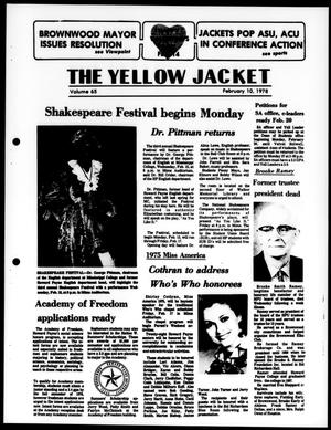 Primary view of object titled 'The Yellow Jacket (Brownwood, Tex.), Vol. 65, [Vol. 19], Ed. 1, Friday, February 10, 1978'.
