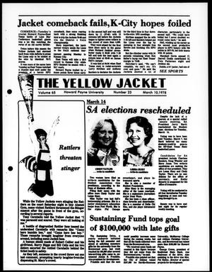 Primary view of object titled 'The Yellow Jacket (Brownwood, Tex.), Vol. 65, No. 23, Ed. 1, Friday, March 10, 1978'.