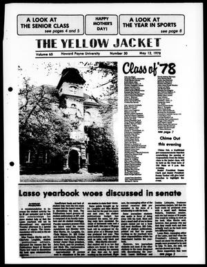 Primary view of object titled 'The Yellow Jacket (Brownwood, Tex.), Vol. 65, No. 30, Ed. 1, Friday, May 12, 1978'.