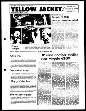 The Howard Payne University Yellow Jacket (Brownwood, Tex.), Vol. 66, No. 16, Ed. 1, Friday, February 2, 1979