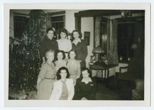 Primary view of object titled '[Women with Christmas Tree]'.