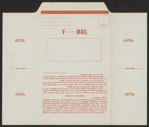 Primary view of object titled '[Blank V-Mail Envelope]'.