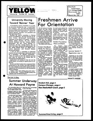Primary view of object titled 'The Howard Payne University Yellow Jacket (Brownwood, Tex.), Vol. 66, No. 28, Ed. 1, Friday, May 18, 1979'.