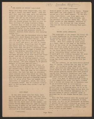 Primary view of object titled 'Tundra Telegram, Volume 1, Issue 20, January 1972'.