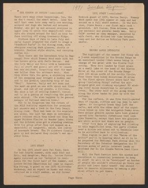 Tundra Telegram, Volume 1, Issue 20, January 1972