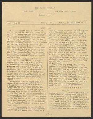 Tundra Telegram, Volume 1, Issue 23, March 1975