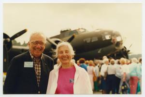 Primary view of object titled '[Photograph of Marvin Krieger and Mary L. at a WASP Reunion]'.