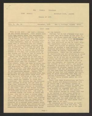Primary view of object titled 'Tundra Telegram, Volume 1, Issue 24'.