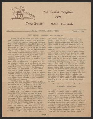Tundra Telegram, Volume 19, February 1971