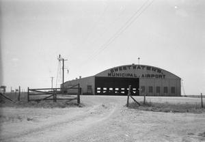 Primary view of object titled '[Negative of Sweetwater's Municipal Airport]'.