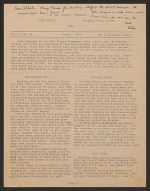 Tundra Telegram, Volume 1, Issue 21, April 1973