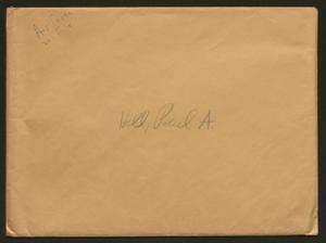 Primary view of object titled '[Packet to Paul A. Hill]'.