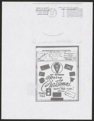 [Copy of V-Mail from James T. Clark to Juanita Fincher, December 10, 1944]