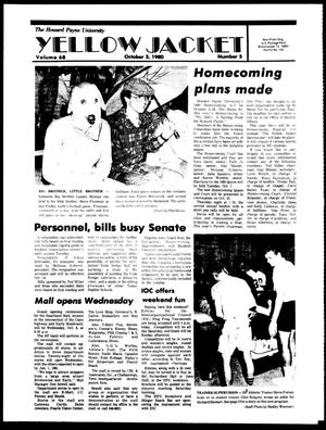 The Howard Payne University Yellow Jacket (Brownwood, Tex.), Vol. 68, No. 5, Ed. 1, Friday, October 3, 1980