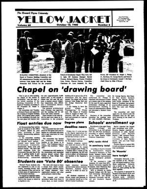 Primary view of object titled 'The Howard Payne University Yellow Jacket (Brownwood, Tex.), Vol. 68, No. 6, Ed. 1, Friday, October 10, 1980'.