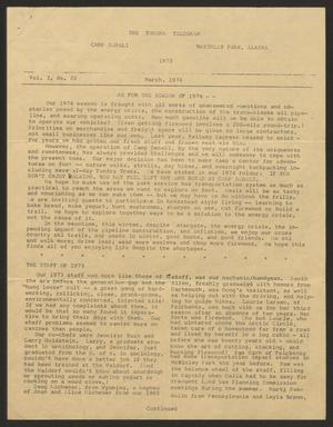 Primary view of object titled 'Tundra Telegram, Volume 1, Issue 22, March 1974'.